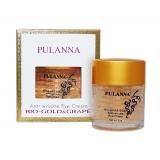 Омолаживающий крем для век на основе био-золота и винограда, Pulanna