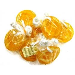 Апельсиновое мыло-скраб с люфой ручной работы, 90 г